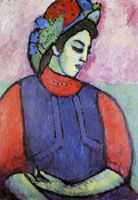 Alexej von Jawlensky Girl in grey apron