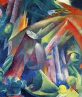 Franz Marc - Forest Interior with Bird