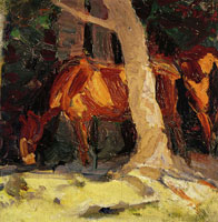 Franz Marc Sketch of Horses I