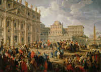 Giovanni Paolo Panini - King Charles III Visiting St. Peter's