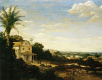 Frans Post - Church with Portico