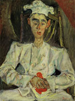 Chaim Soutine Pastry Cook with Red Handkerchief