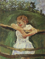 Chaim Soutine Young Girl at a Fence
