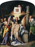 Bartholomeus Spranger - Christ Surrounded by Angels with Symbols of the Passion