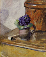 Edouard Vuillard Bouquet of Violets and Clay Pipe