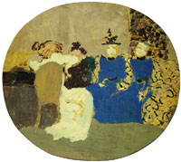 Edouard Vuillard The Young Fornachon Ladies Visiting