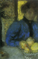 Edouard Vuillard Woman in Blue with a Bowl of Fruit
