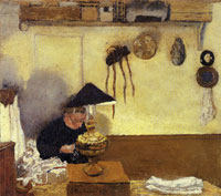 Edouard Vuillard Woman Sewing by Lamplight