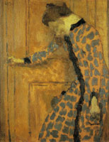 Edouard Vuillard Young Girl, Her Hand on a Doorknob