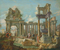 Giuseppe Zocchi Alexander Visiting the Tomb of Achilles