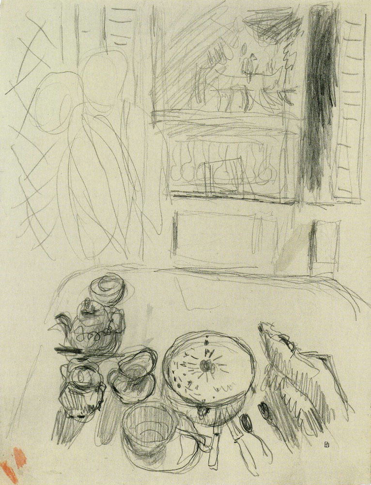 Pierre Bonnard - Study for Dining Room Overlooking the Garden
