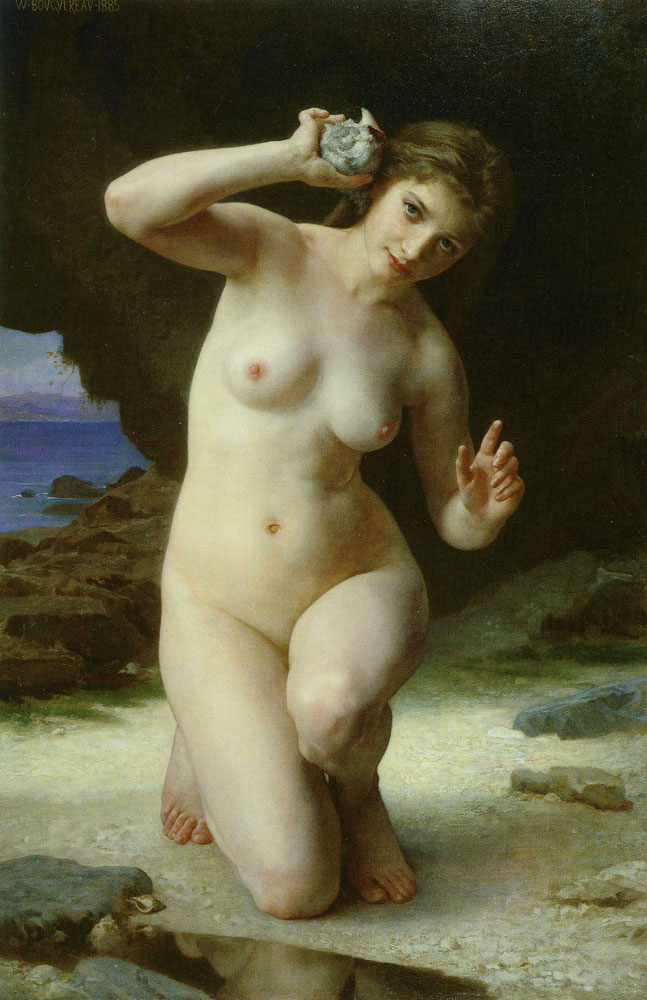 William-Adolphe Bouguereau - Woman with a Sea-shell