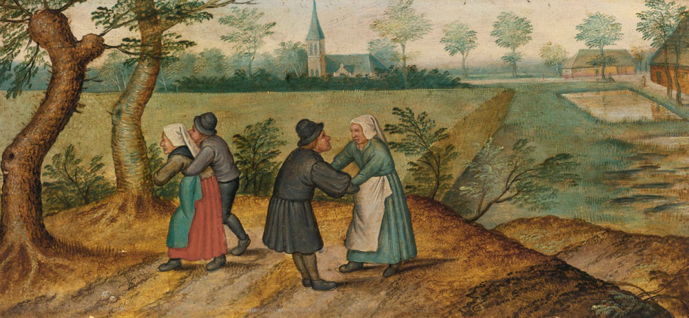 Pieter Brueghel the Younger - Two Peasant Couples