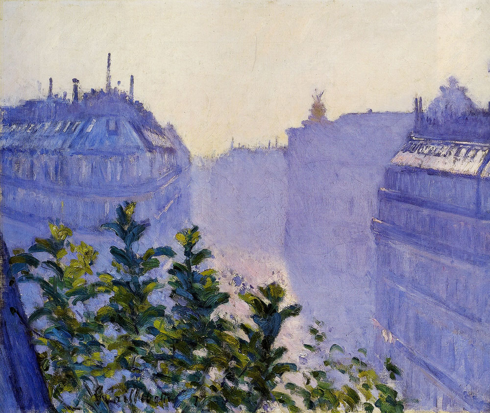 Gustave Caillebotte - The Rue Halévy, Seen from a Balcony