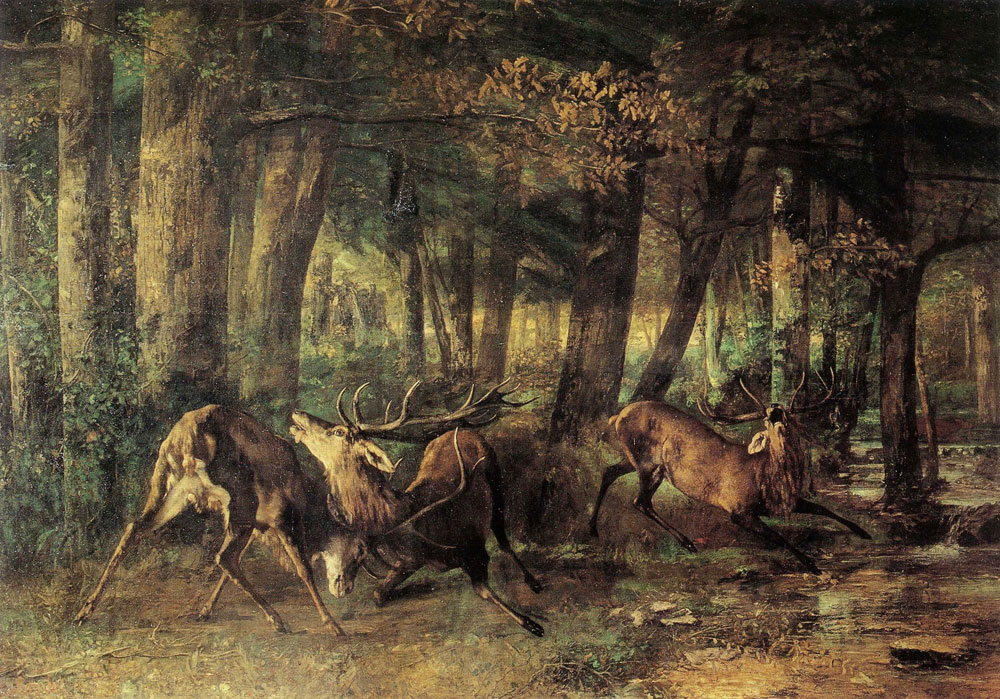 Gustave Courbet - Spring Rutting