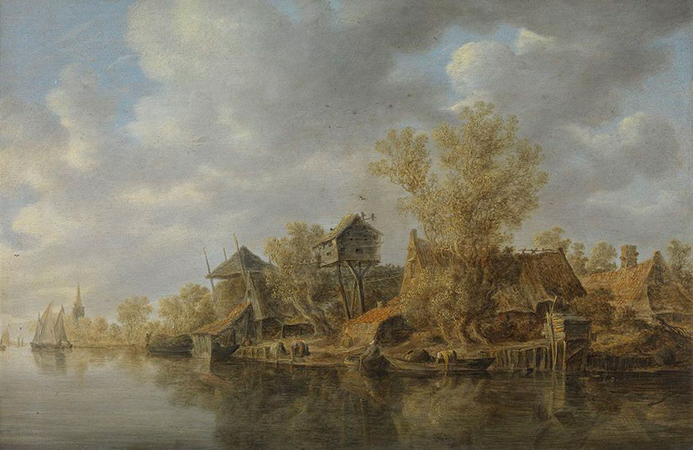 Jan van Goyen - Farm at a River