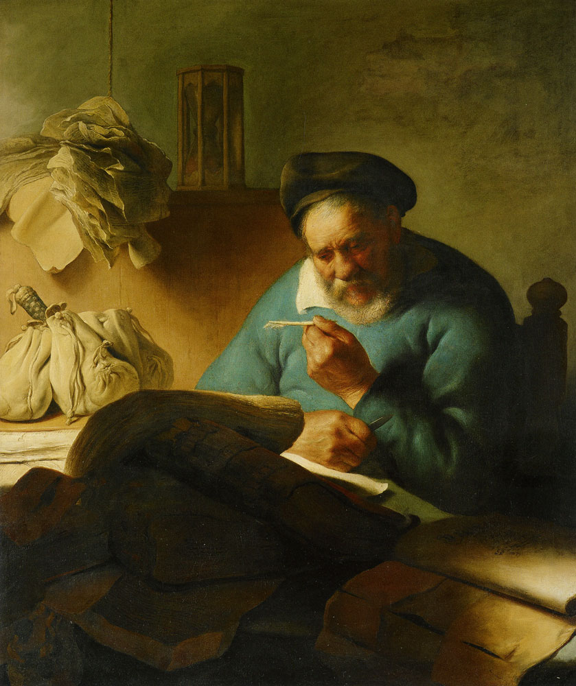 Jan Lievens - Old Man with a Quill