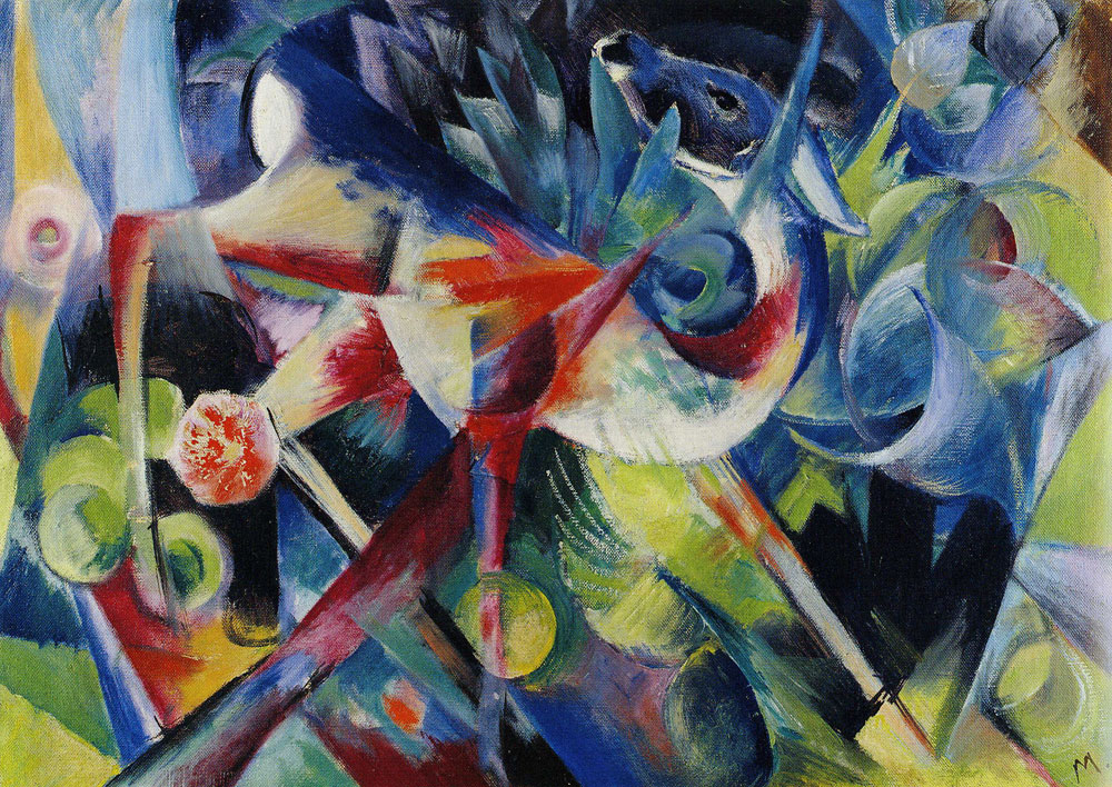 Franz Marc - Deer in a Flower Garden