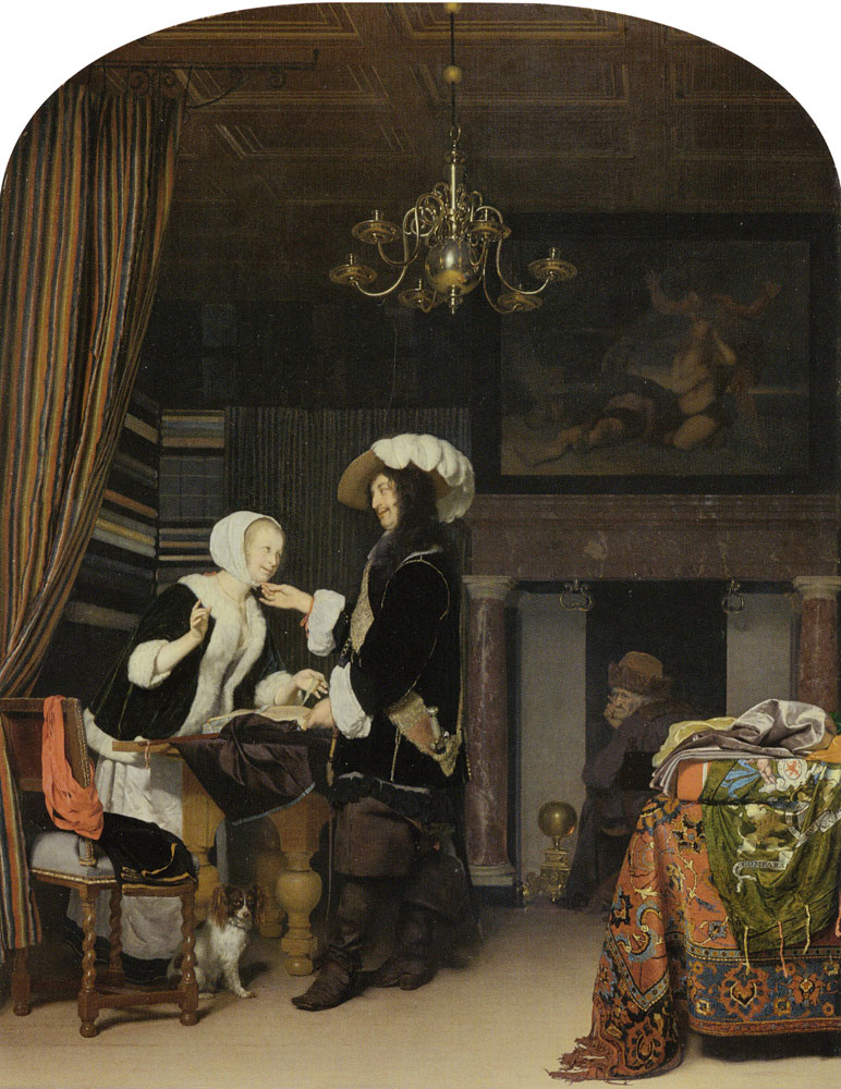 Frans van Mieris the Elder - The Cloth Shop