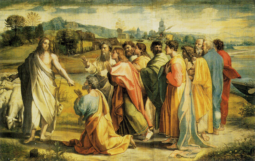 Raphael - Christ Giving the Keys of Paradise to Saint Peter