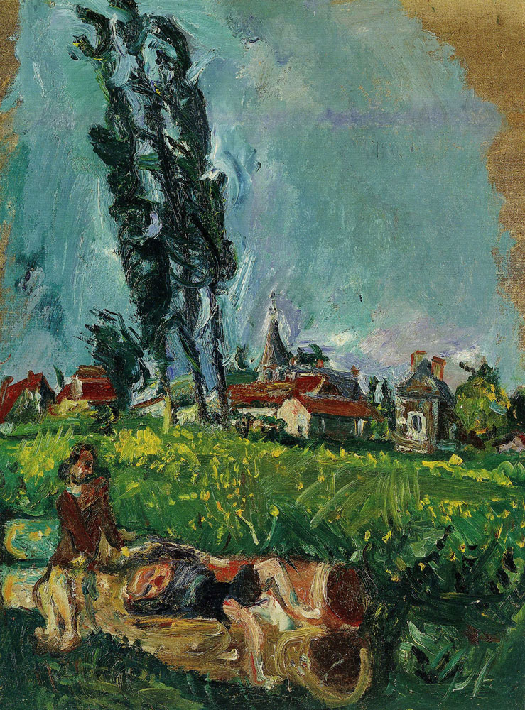Chaim Soutine - Children Playing at Champigny
