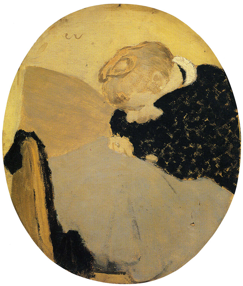 Edouard Vuillard - The Oval Woman Darning