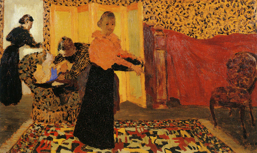 Edouard Vuillard - Interior with a Red Bed or The Bridal Chamber