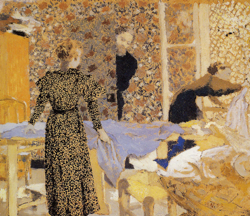 Edouard Vuillard - The Suitor or Interior with Work-Table