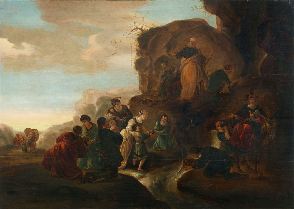 Attributed to Jacob de Wet - Moses Striking the Rock