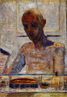 Pierre Bonnard Portrait of the Artist in the Bathroom Mirror (Self-Portrait)