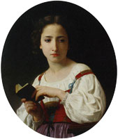 William-Adolphe Bouguereau The Book of Hours