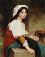 William-Adolphe Bouguereau - Italian Girl at the Fountain