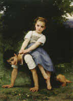 William-Adolphe Bouguereau - The Pony-back Ride