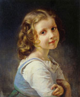 William-Adolphe Bouguereau Young Schoolgirl (head)