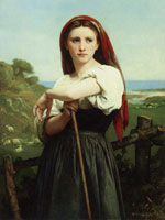 William-Adolphe Bouguereau - Young Shepherdess