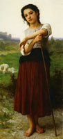 William-Adolphe Bouguereau - Young Shepherdess Standing