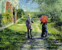 Gustave Caillebotte - Rising Pathway