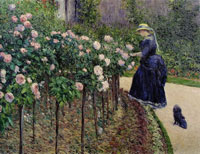 Gustave Caillebotte - Roses, Garden at Petit Gennevilliers
