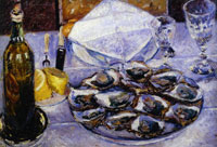 Gustave Caillebotte Still Life with Oysters