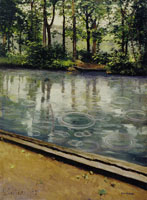 Gustave Caillebotte The Yerres, Effect of Rain