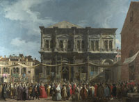 Canaletto - The Procession on the Feast Day of Saint Roch
