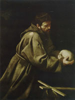 Caravaggio St Francis in Meditation