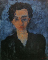 Chaim Soutine - Portrait of a Young Woman