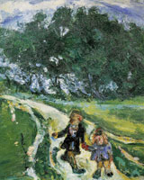 Chaim Soutine - Road from School, Civry