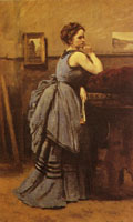 Jean-Baptiste-Camille Corot The Lady in Blue