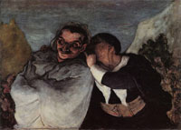 Honoré Daumier Crispin and Scapin