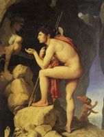 Jean Auguste Dominique Ingres - Oedipus Solving the Riddle of the Sphinx
