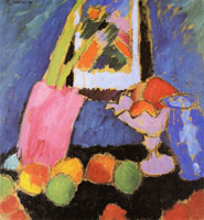 Alexej von Jawlensky - Still-life with apples and violet fruit-stand
