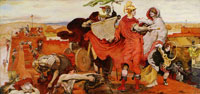 Ford Madox Brown The Romans building a Fort at Mancenion