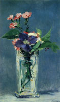 Edouard Manet Carnations and Clematis in a Crystal Vase